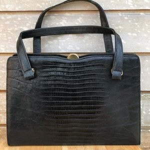 🥂 Vintage Rare Bellestone Handbag Lizard Leather
